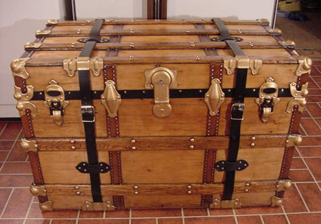 the padlocked chest