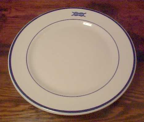 OFFICERS MESS ENSIGN (01 \u0026 LT JUNIOR GRADE (02) - US NAVY DINNERWARE W/ \ SQUARE KNOT\  TOPMARK & THE PIRATES LAIR-US NAVY ANCHOR CHINA DINNERWARE-RESTORED ANTIQUE ...
