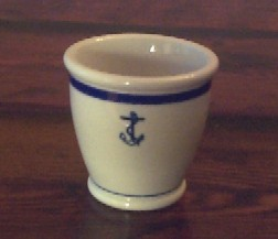 THE PIRATES LAIR-US NAVY ANCHOR CHINA DINNERWARE-RESTORED ANTIQUE TRUNKS FOR SALE-NAUTICAL ANTIQUES USN Navy Footed Egg Cup Single Ended Vintage Anchor ... & THE PIRATES LAIR-US NAVY ANCHOR CHINA DINNERWARE-RESTORED ANTIQUE ...